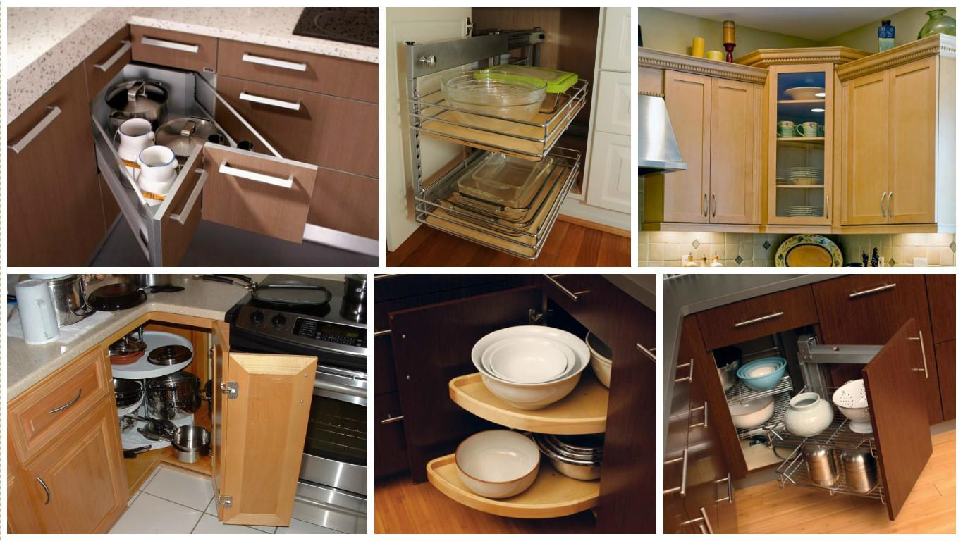 Saving Space Corner Kitchen Cabinets Top Inspirations