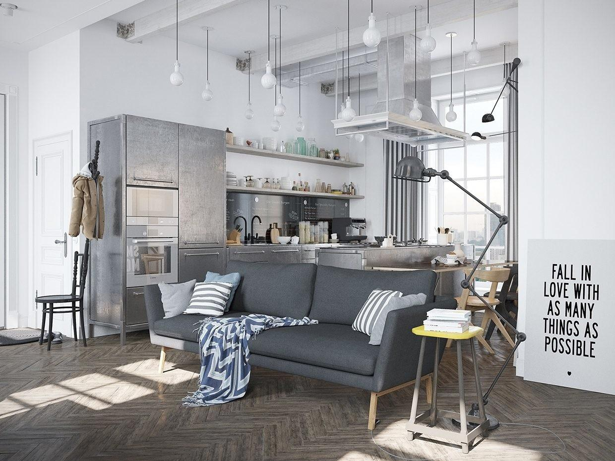 Scandinavian Apartment Jazzed Industrial Design