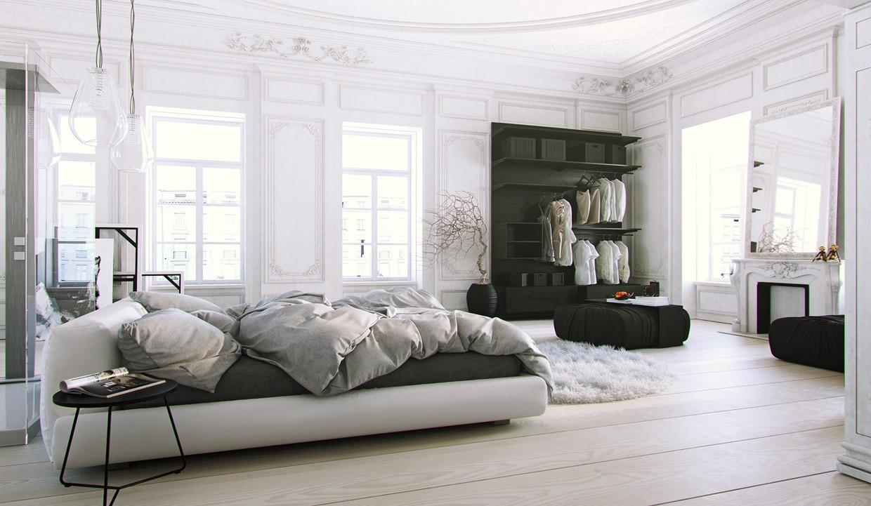 Scandinavian Parisian Apartments White