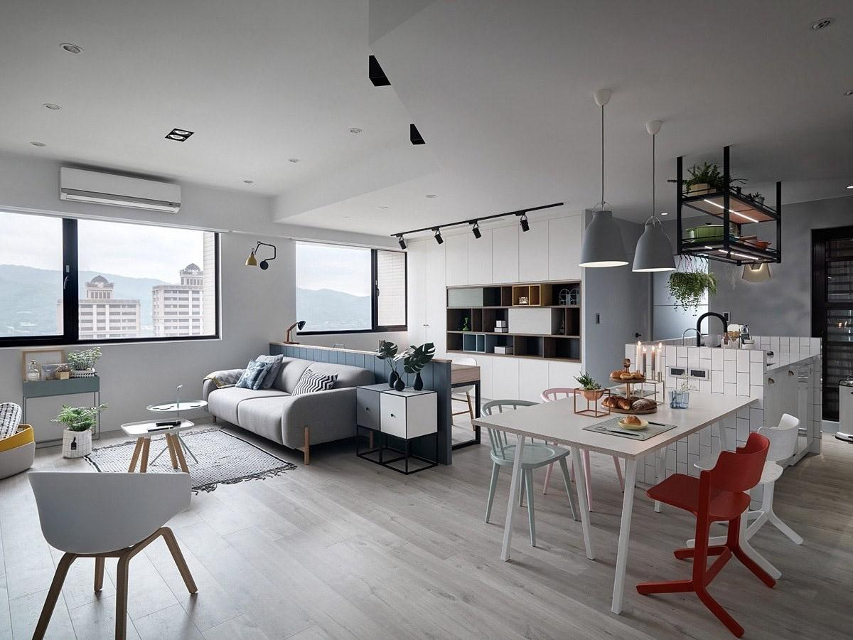 Scandinavian Style Apartment Design Combined Chic