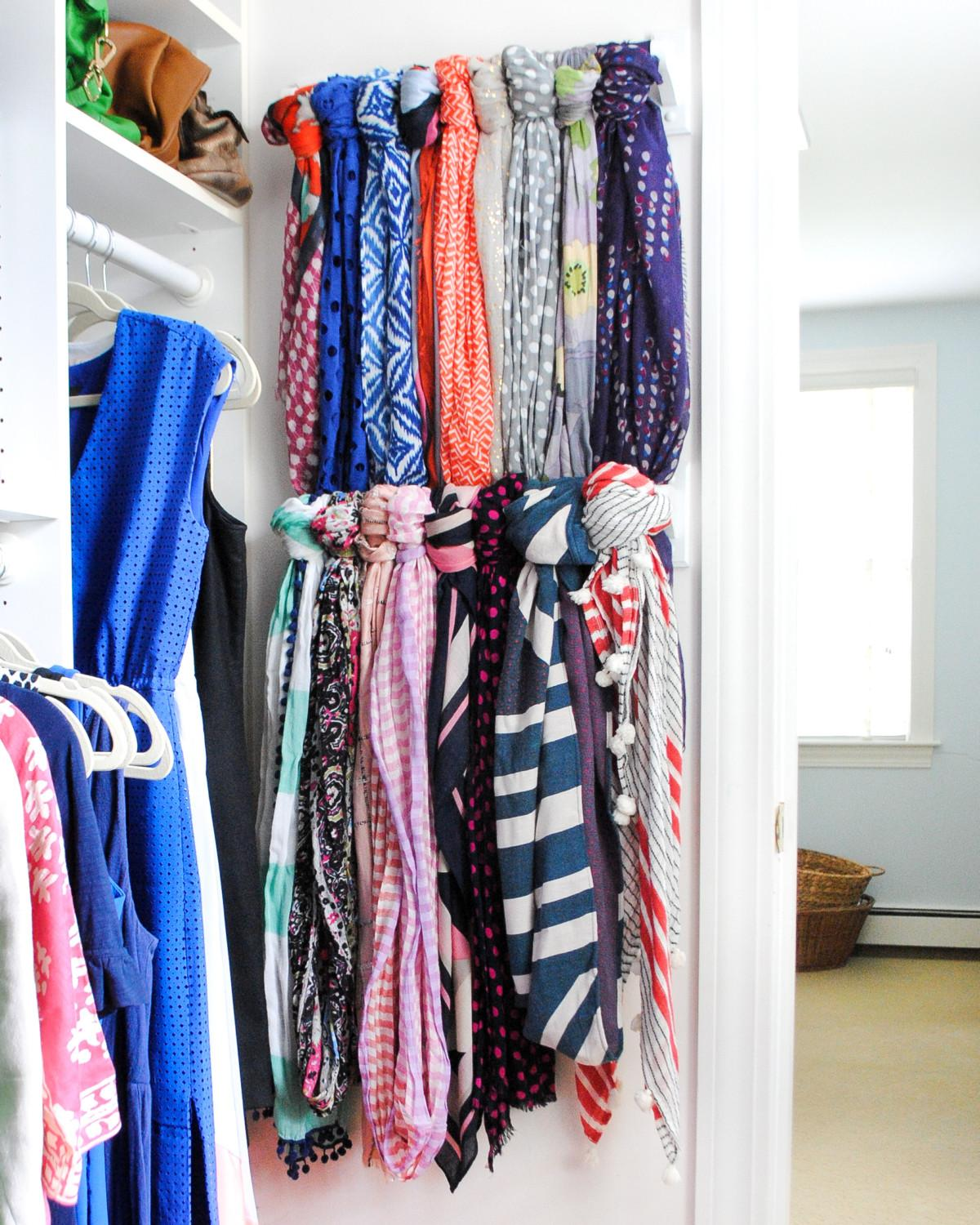 Scarf Hanger Closet Organization Ideas Chronicles