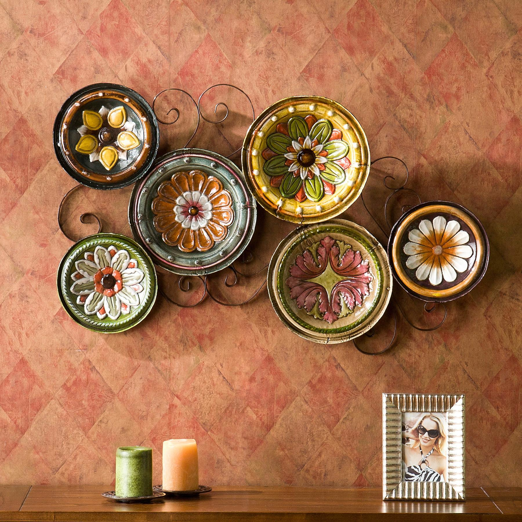 Scattered Italian Plates Wall Art Kitchen Tuscan Living