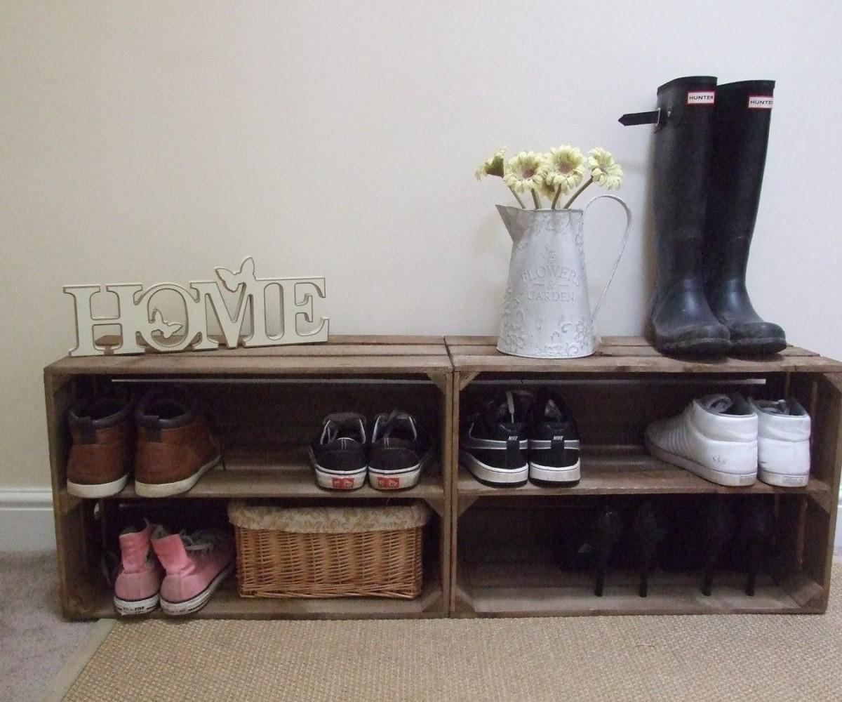Scenic Table Wine Rack Bottle Crate Standing
