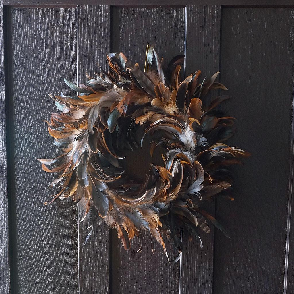 Schlappen Feather Wreath Wreaths Holiday