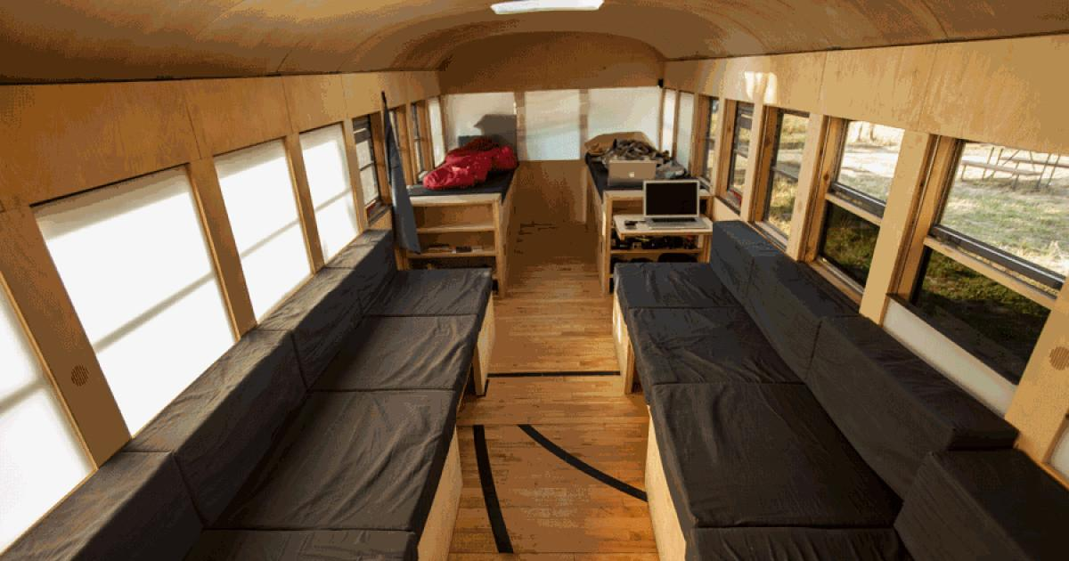 School Bus Turned Into Modern Mobile Home Daily News