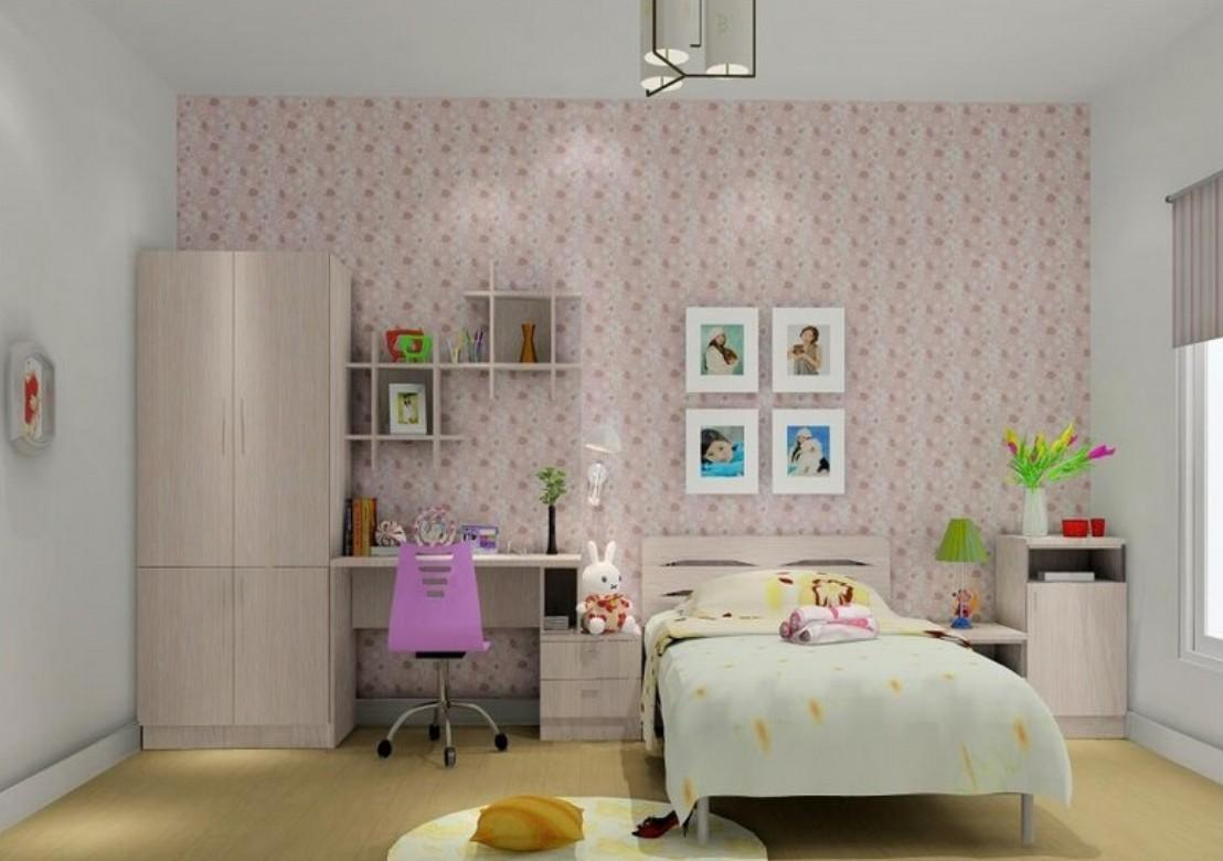 Schoolgirl Room Interior Design Pink