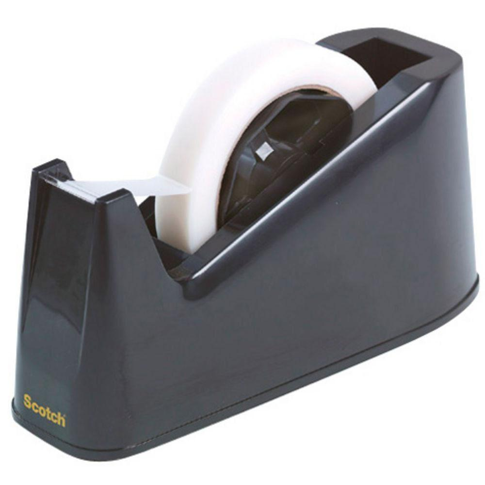 Scotch Tape Dispenser Desk 73mm Core Black