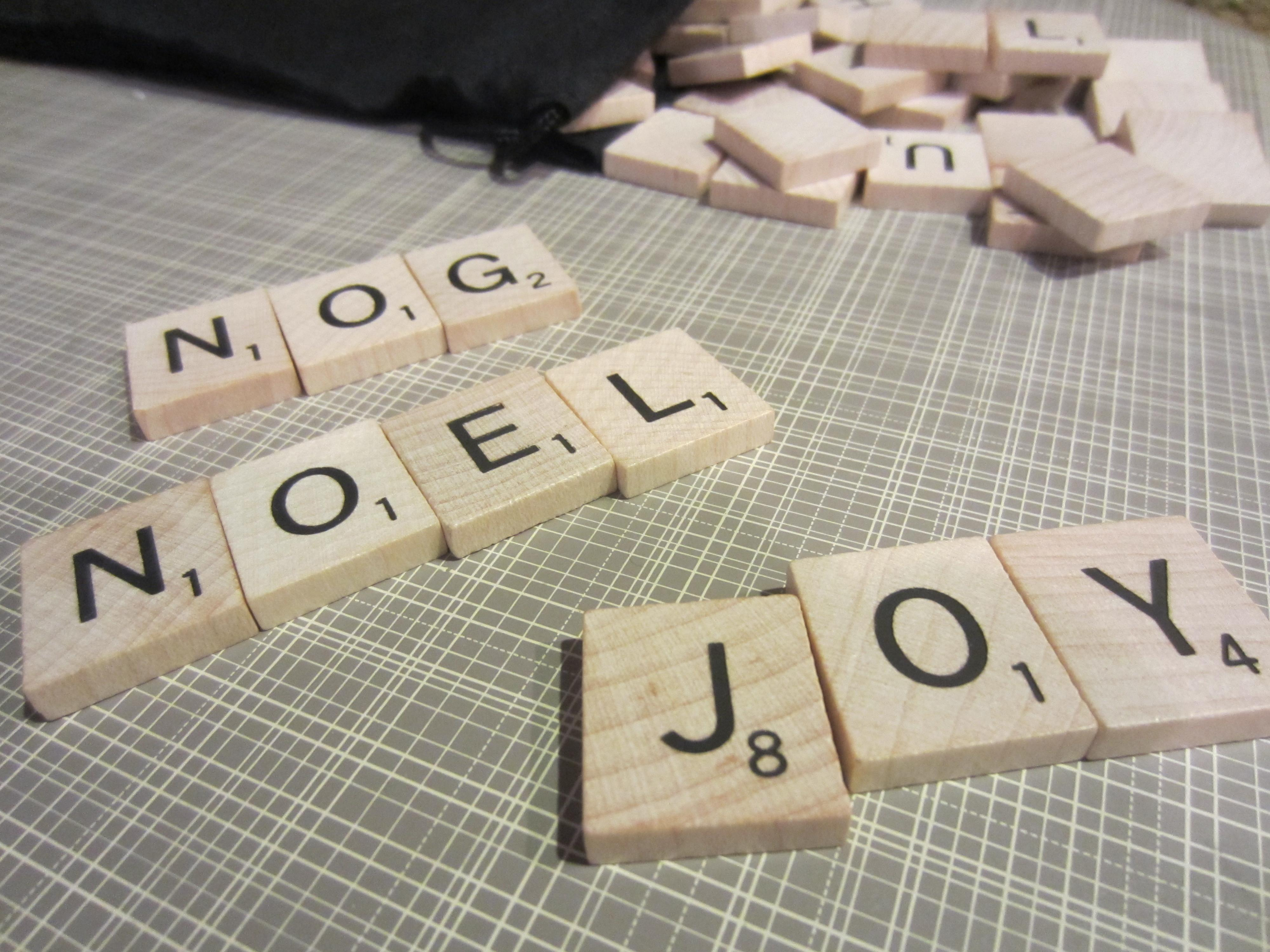 Scrabble Christmas Ornaments Diy Inspired