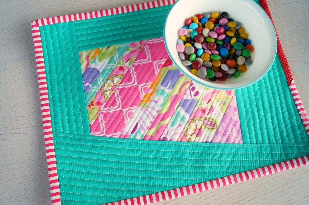 Scrappy Quilted Diy Placemats Allfreesewing