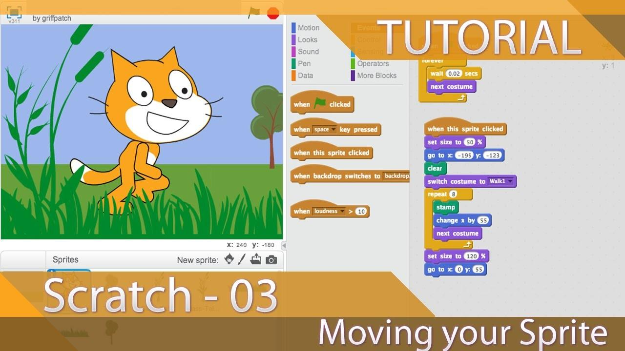 Scratch Tutorial Moving Your Sprite