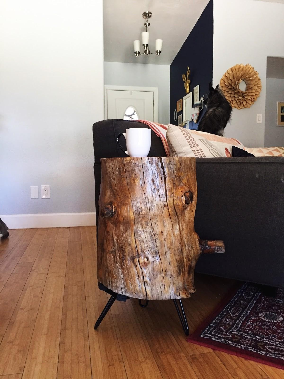 Scribbles Emily Diy Make Tree Stump Stool