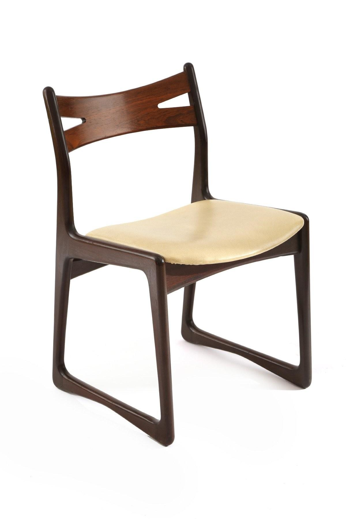 Sculpted Rosewood Danish Dining Chairs Sale 1stdibs