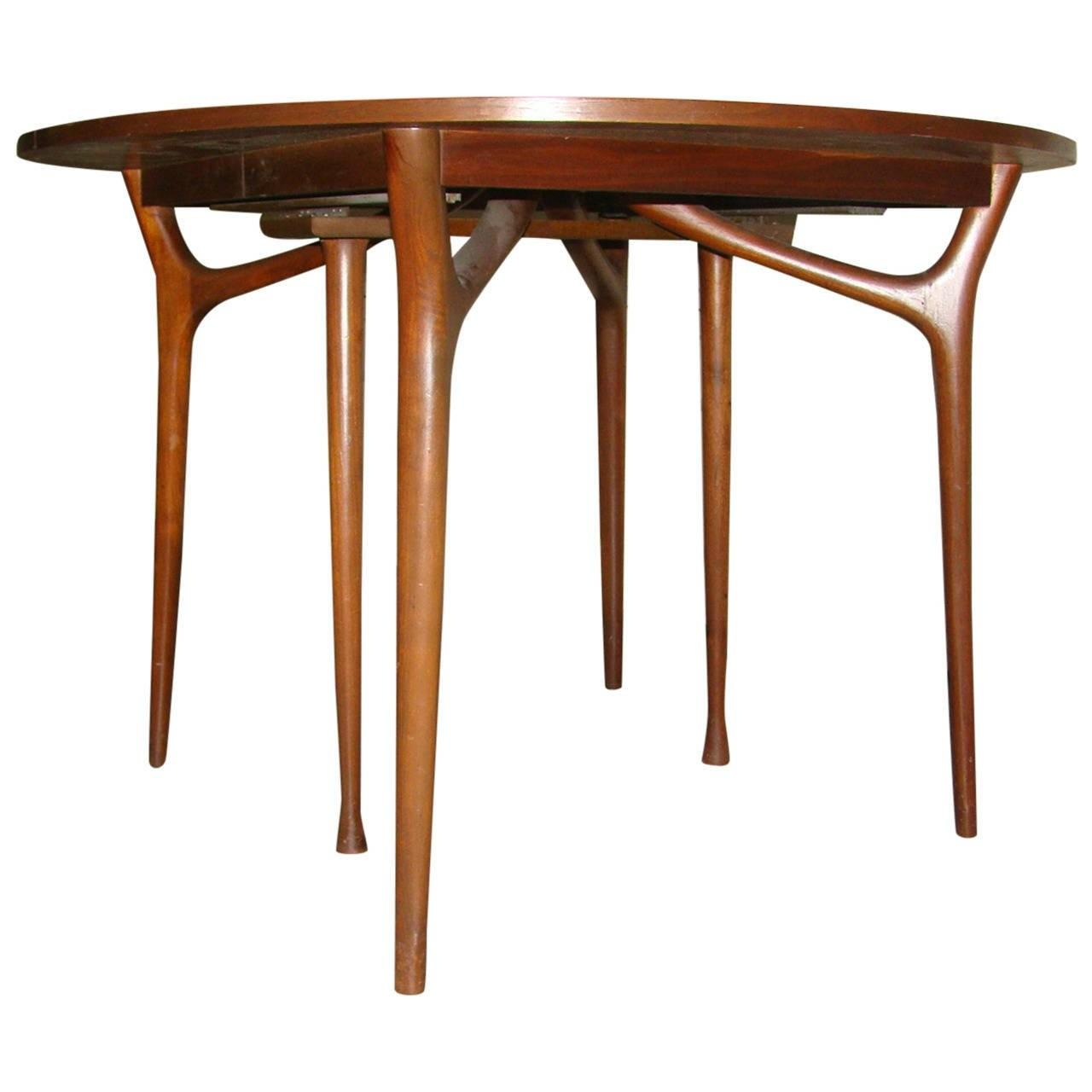 Sculptural Danish Modern Expandable Spider Dining Table