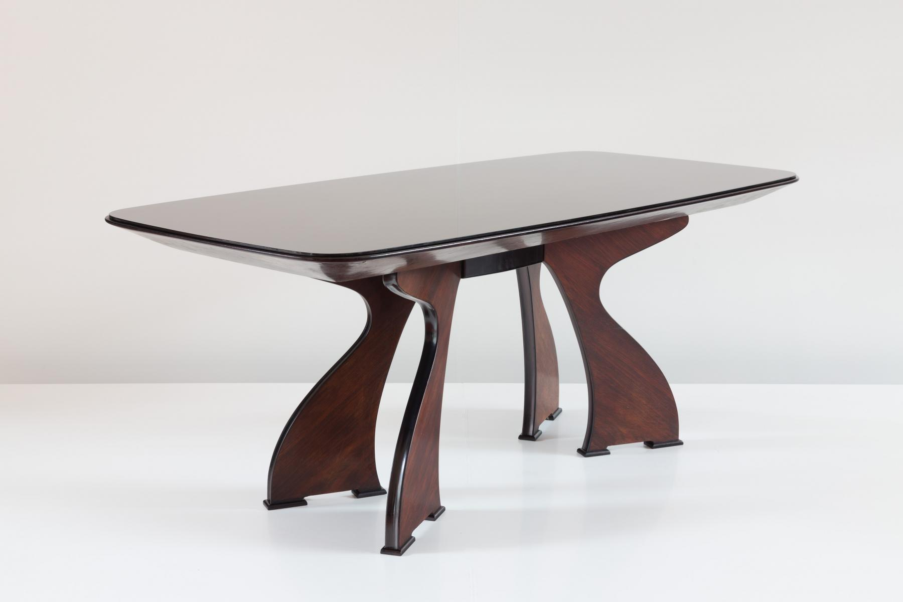 Sculptural Italian Modern Rosewood Dining Table Sale