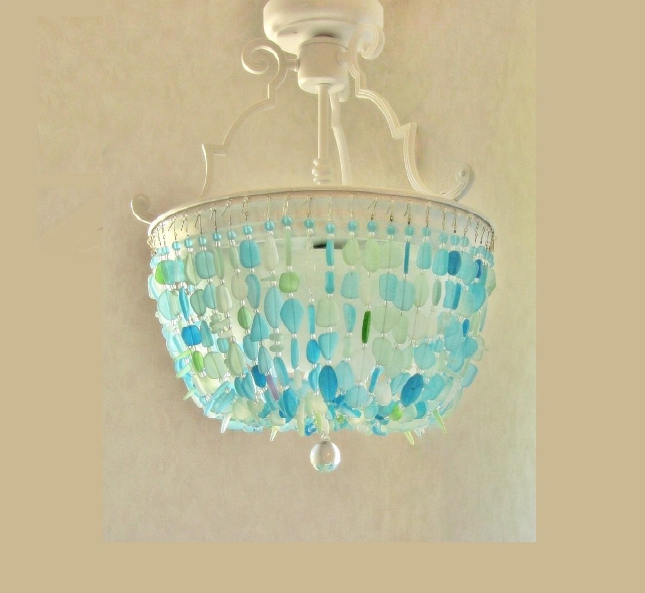 Sea Glass Chandelier Lighting Fixture Beach Ceiling