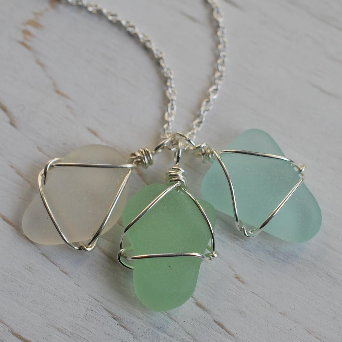 Sea Glass Jewelry Necklace Imgkid