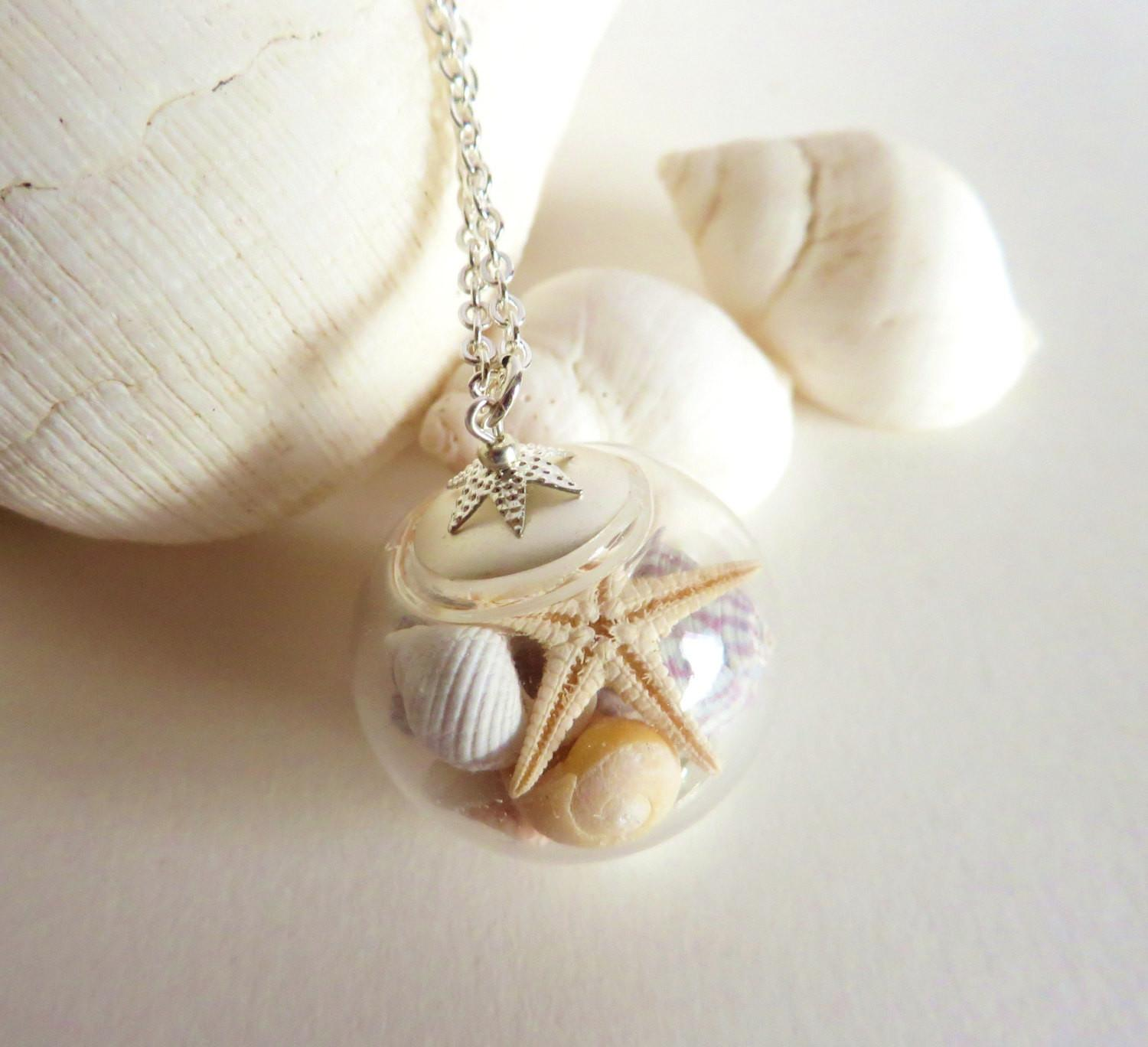 Sea Shell Jewelry Seashell Necklace Starfish