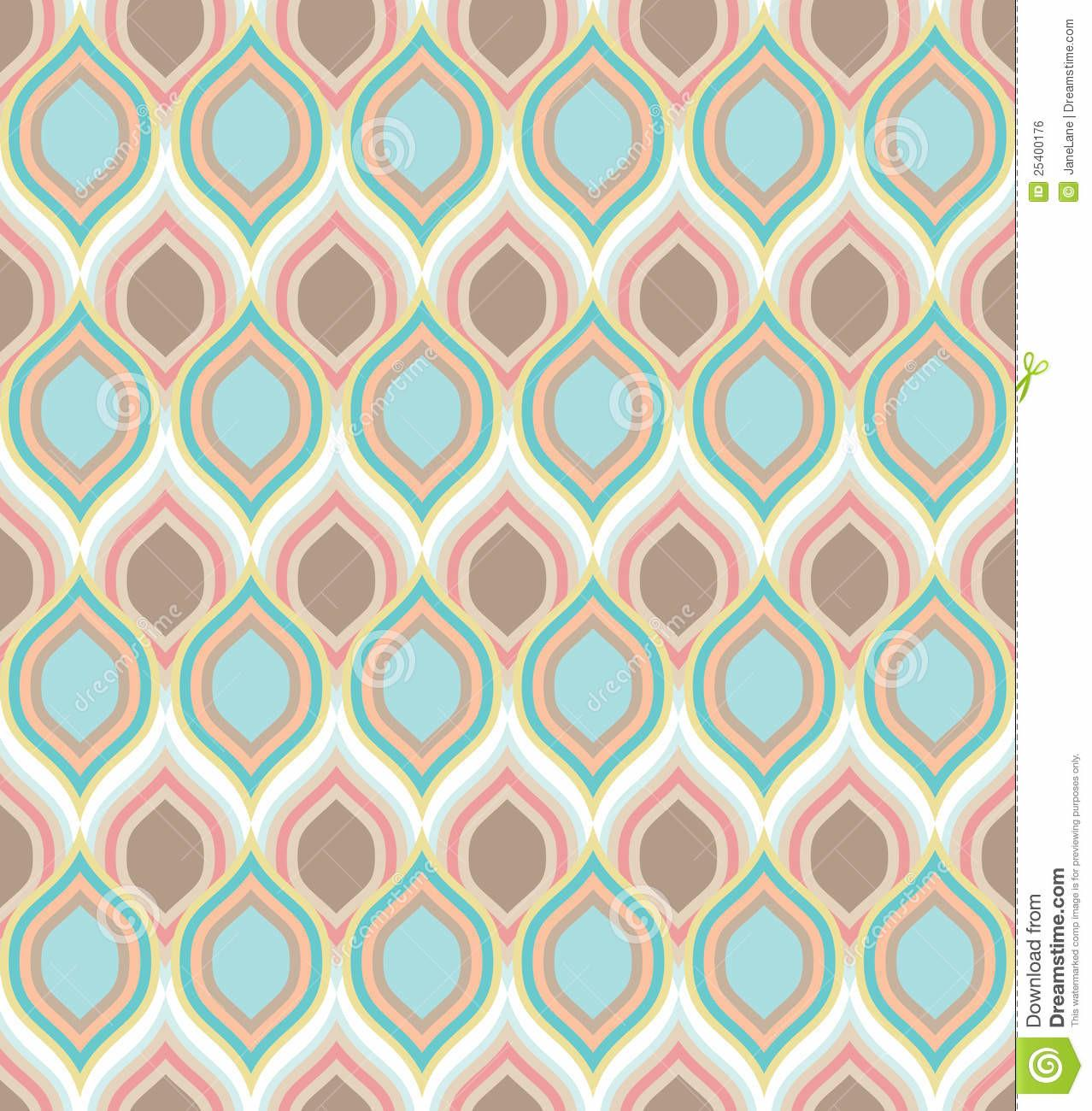 Seamless Pattern Colorful Calm Texture Stock Vector