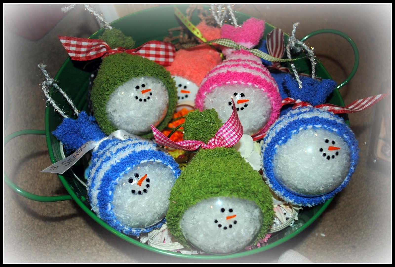 Search Results Homemade Snowman Christmas Ornaments
