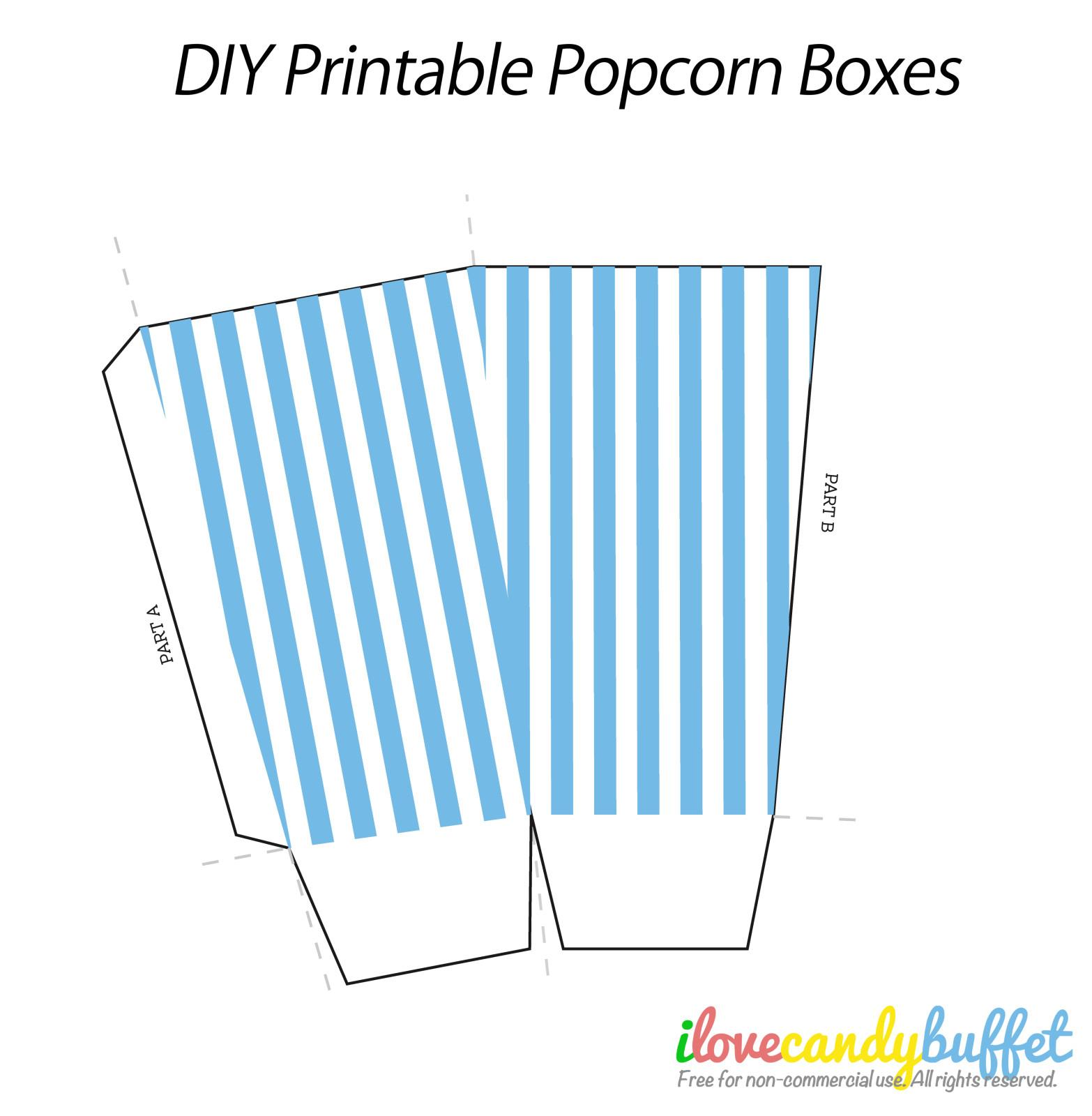 Search Results Popcorn Box Template Printable
