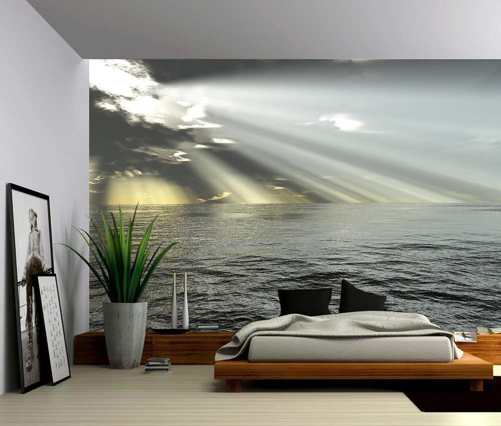 Seascape Ocean Rays Light Large Wall Mural Self Adhesive