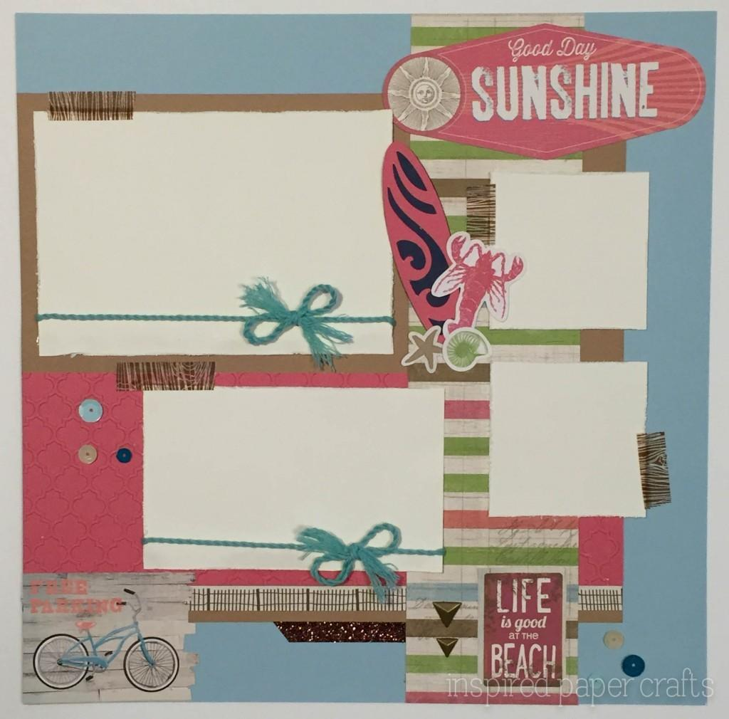 Seaside Beach Themed Scrapbooking Layout Good Day