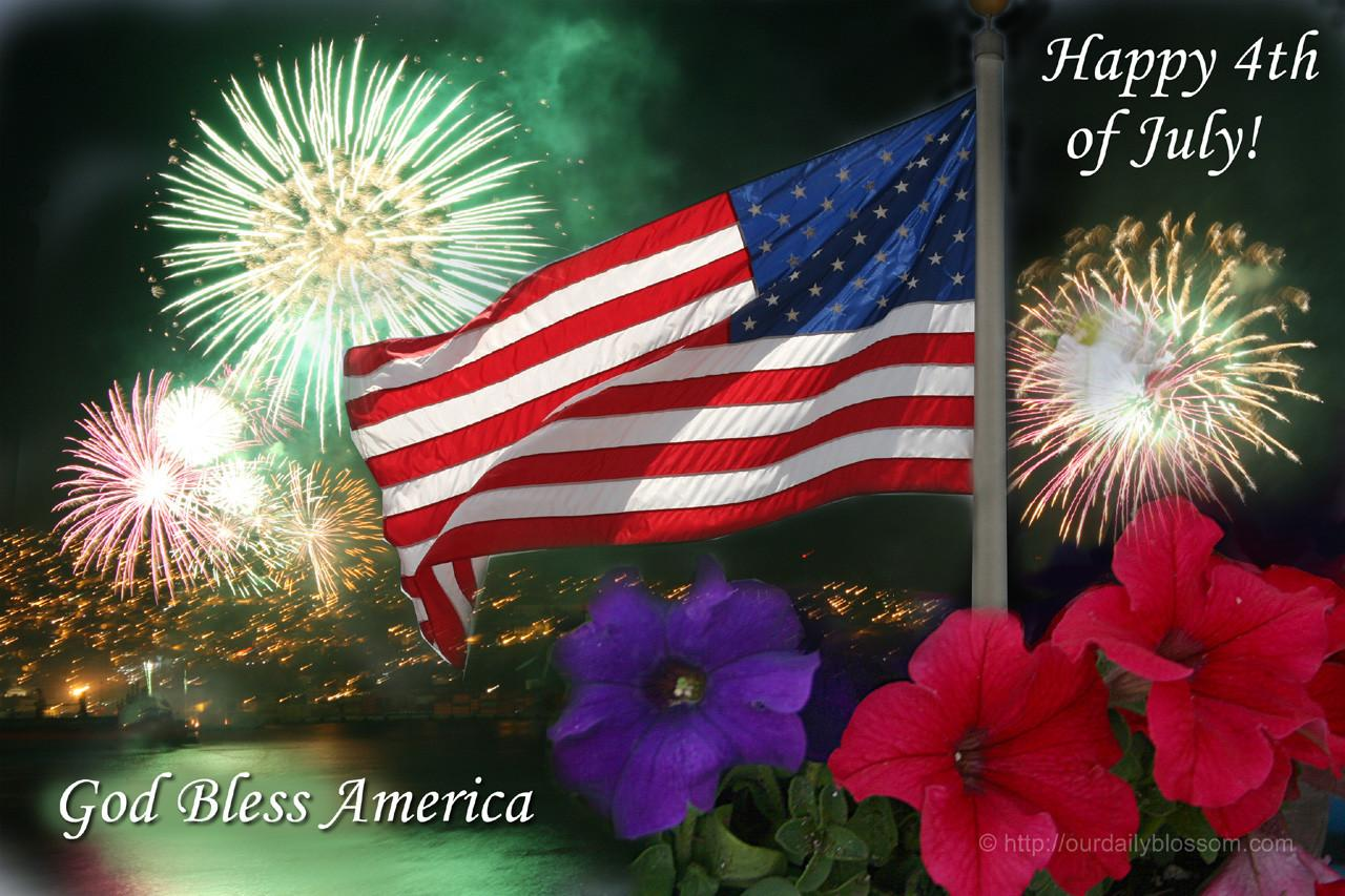 Seasonal Happy Fourth July Our Daily Blossom