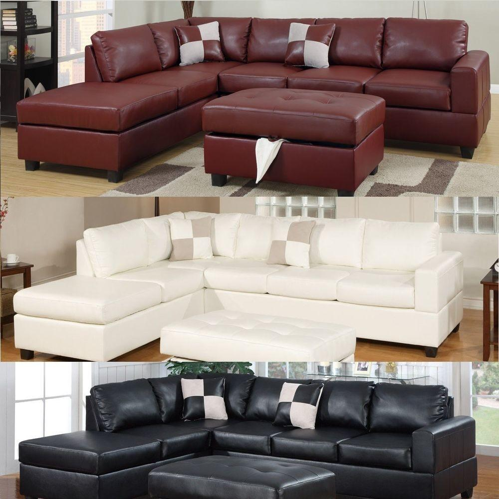Sectional Sofa Leather Set Couch