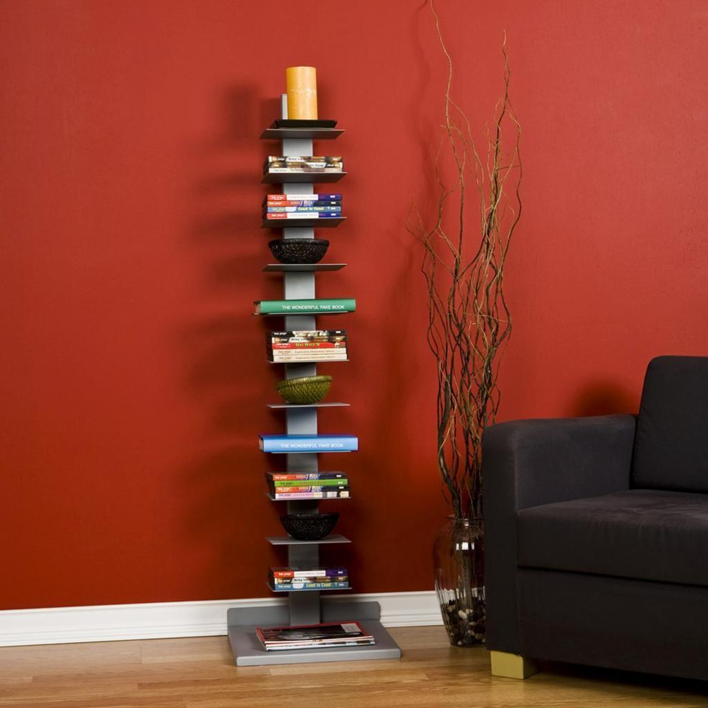 Sei Metal Spine Style Book Tower Bookcases