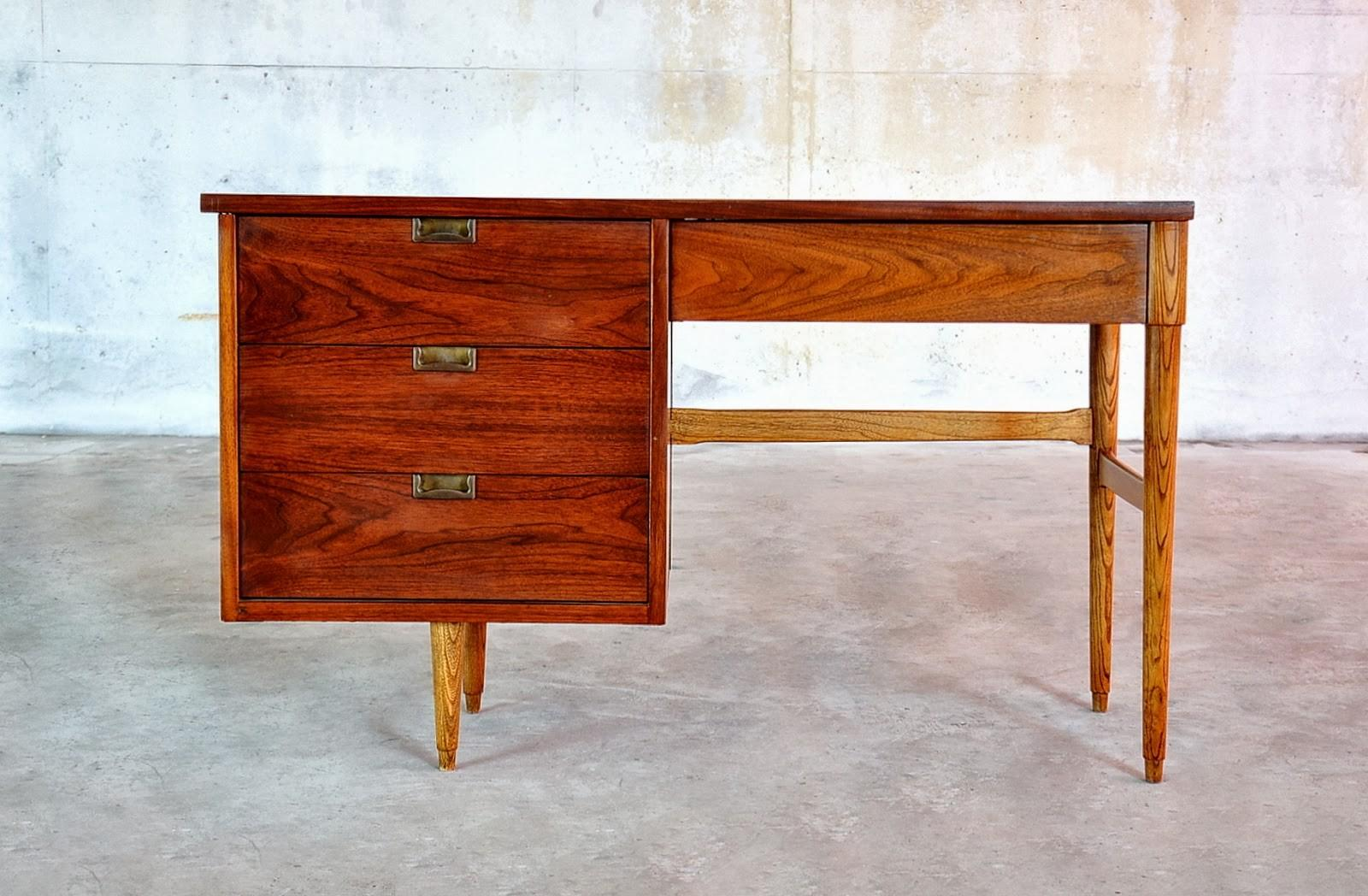 Select Modern Mid Century Desk Vanity Table
