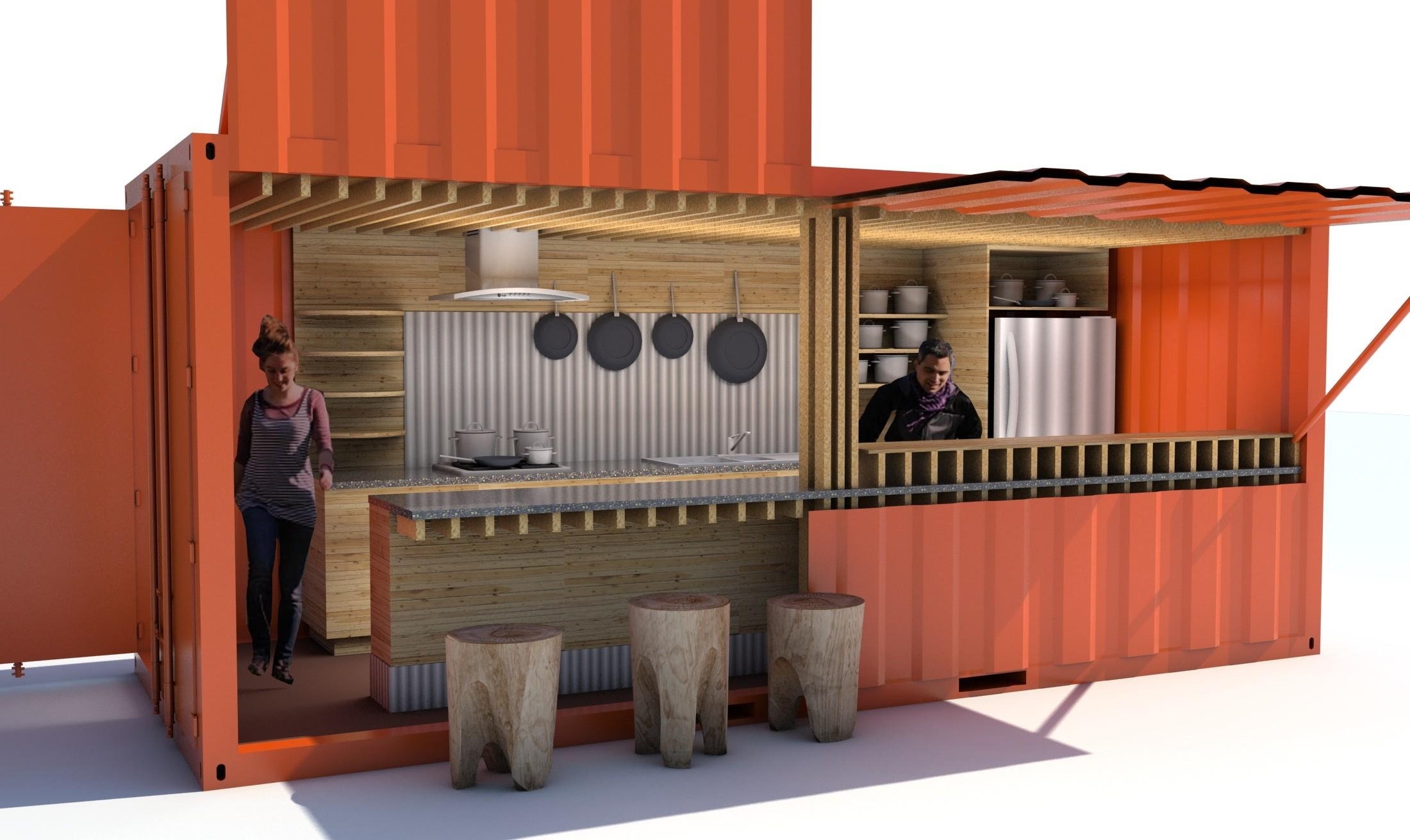 Self Contained Shipping Container Restaurants