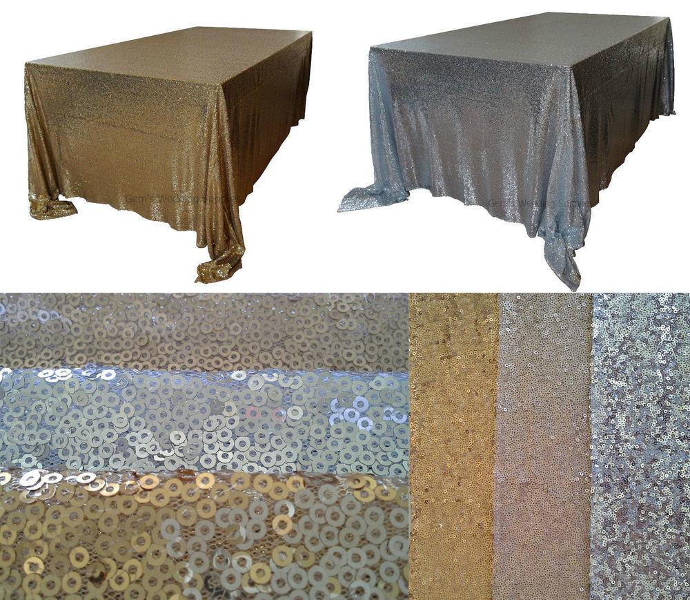 Sequin Table Cloth Foot X132 Gold Silver Wedding