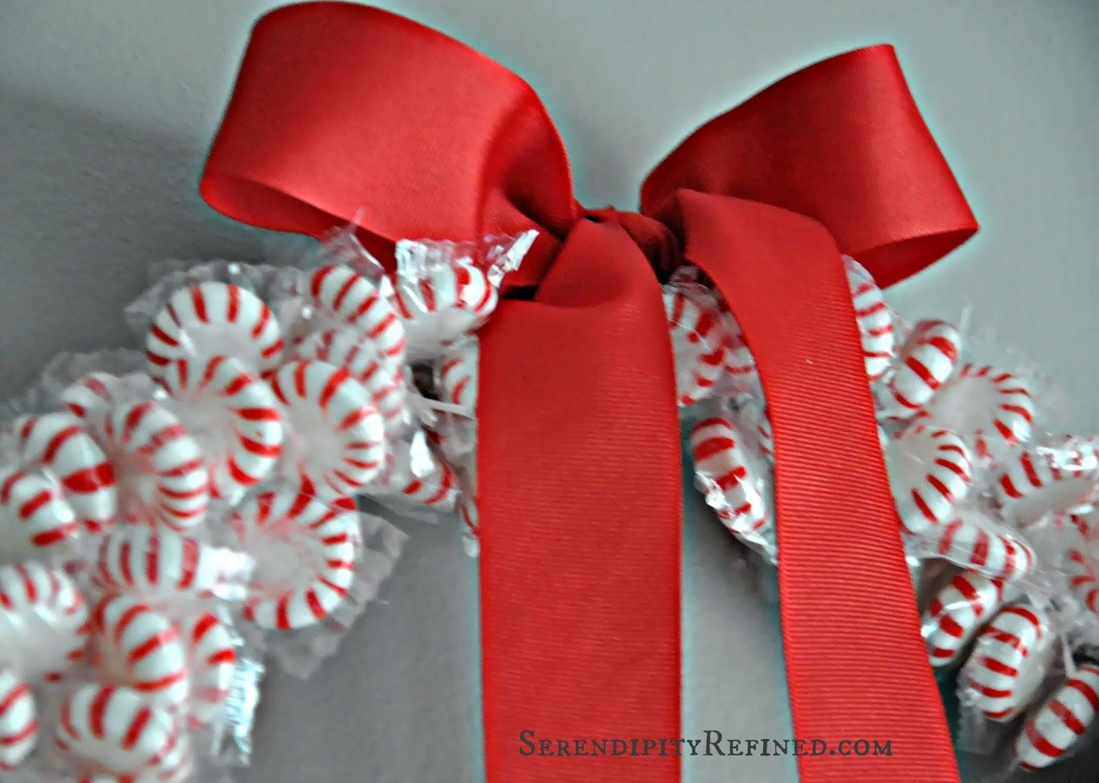 Serendipity Refined Blog Diy Holiday Peppermint Wreath