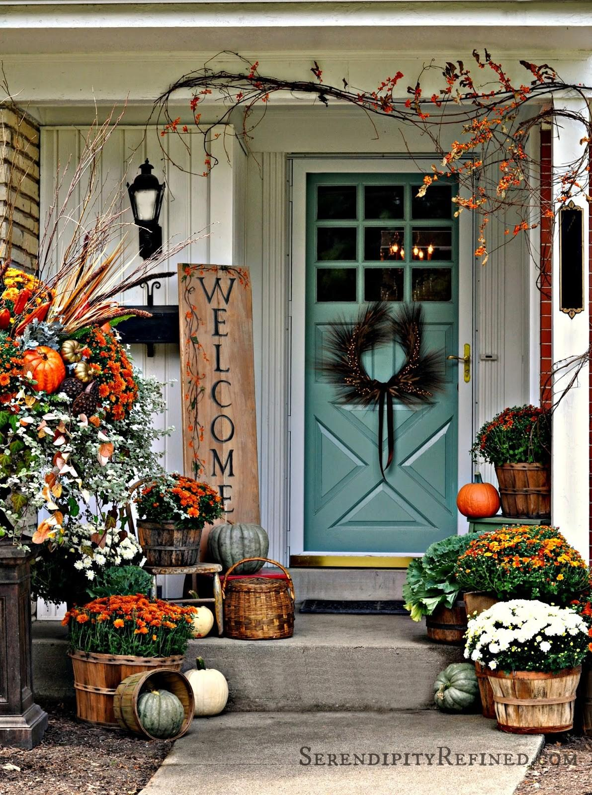 Serendipity Refined Blog Fall Harvest Porch Decor