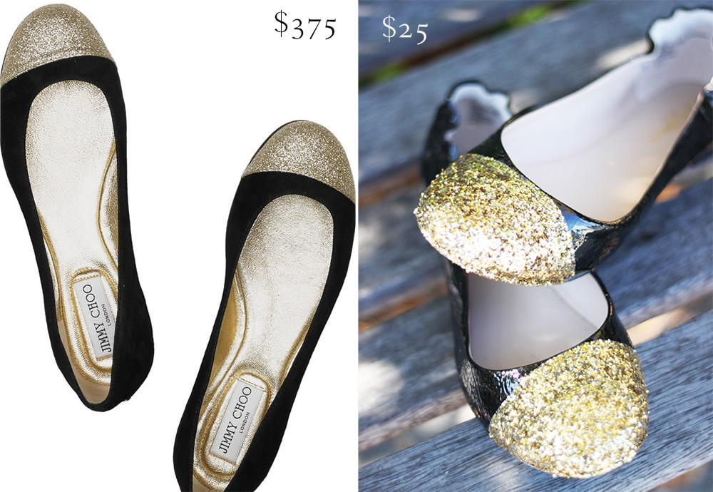 Serenity Now Diy Glitter Flats Holiday Style