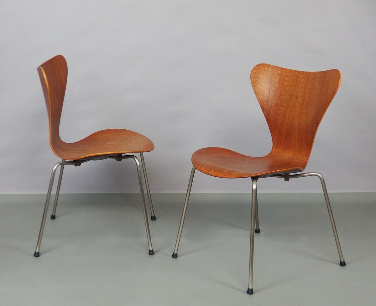 Series Chairs Arne Jacobsen Fritz Hansen 1960s