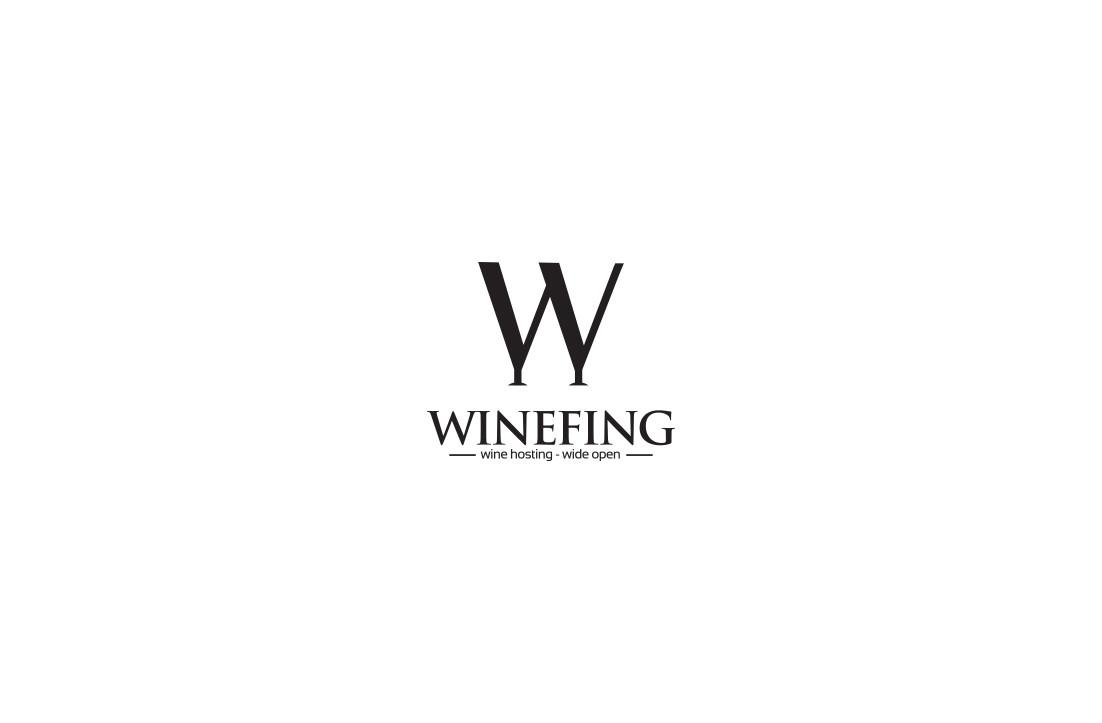 Serious Modern Logo Design Winefing Gldesigns