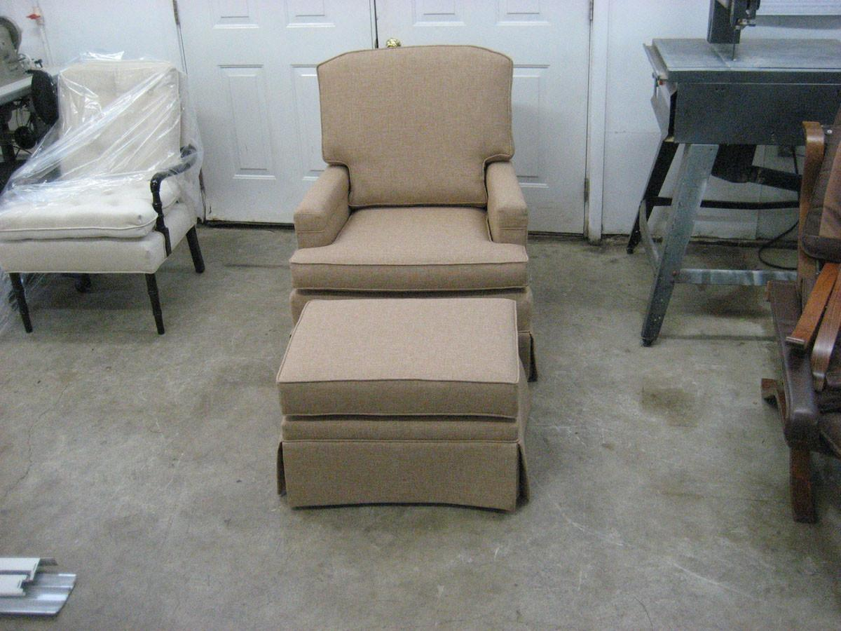 Set Club Chair Ottoman Upholstery