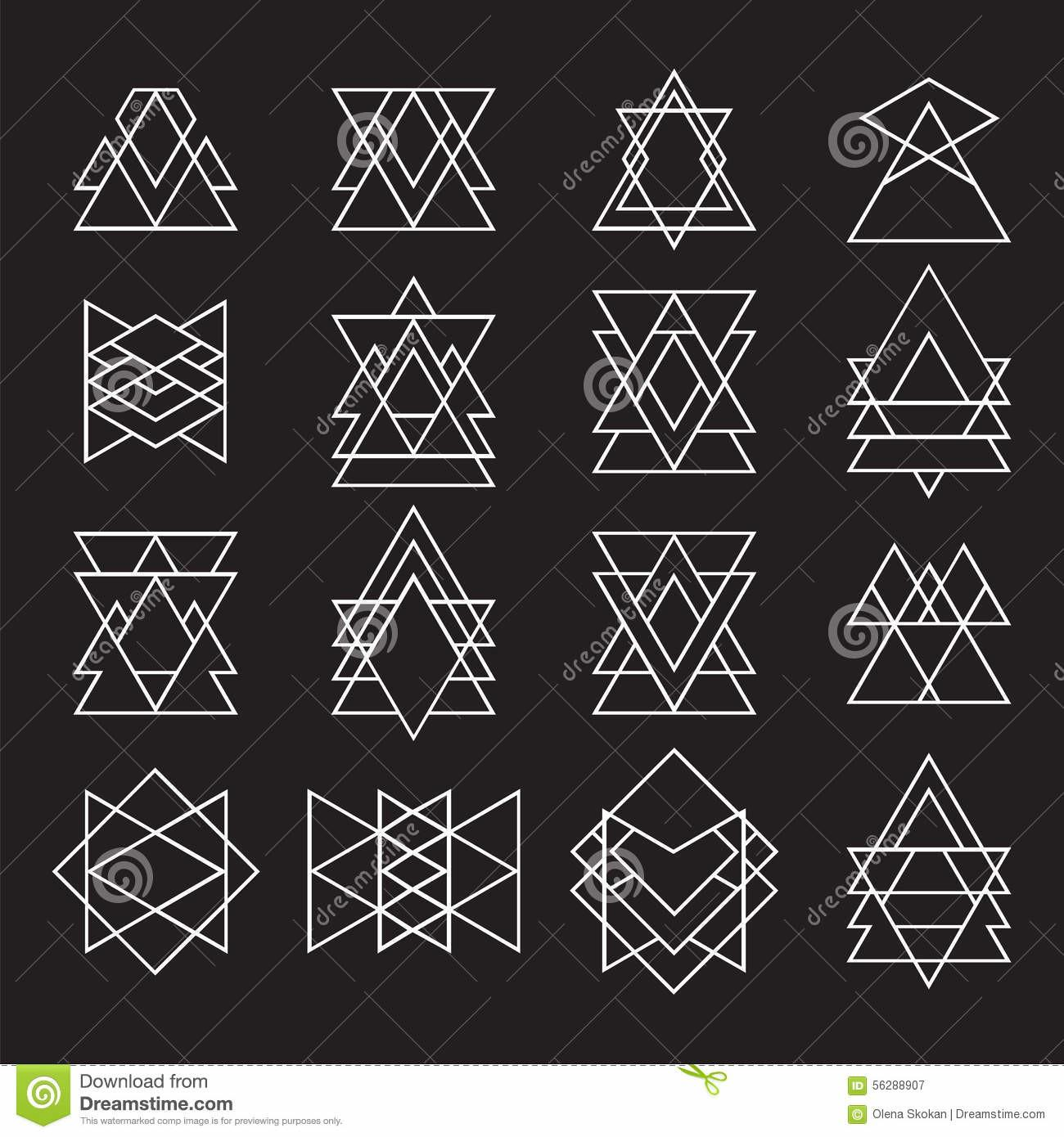 Set Geometric Shapes Your Design Trendy Hipster