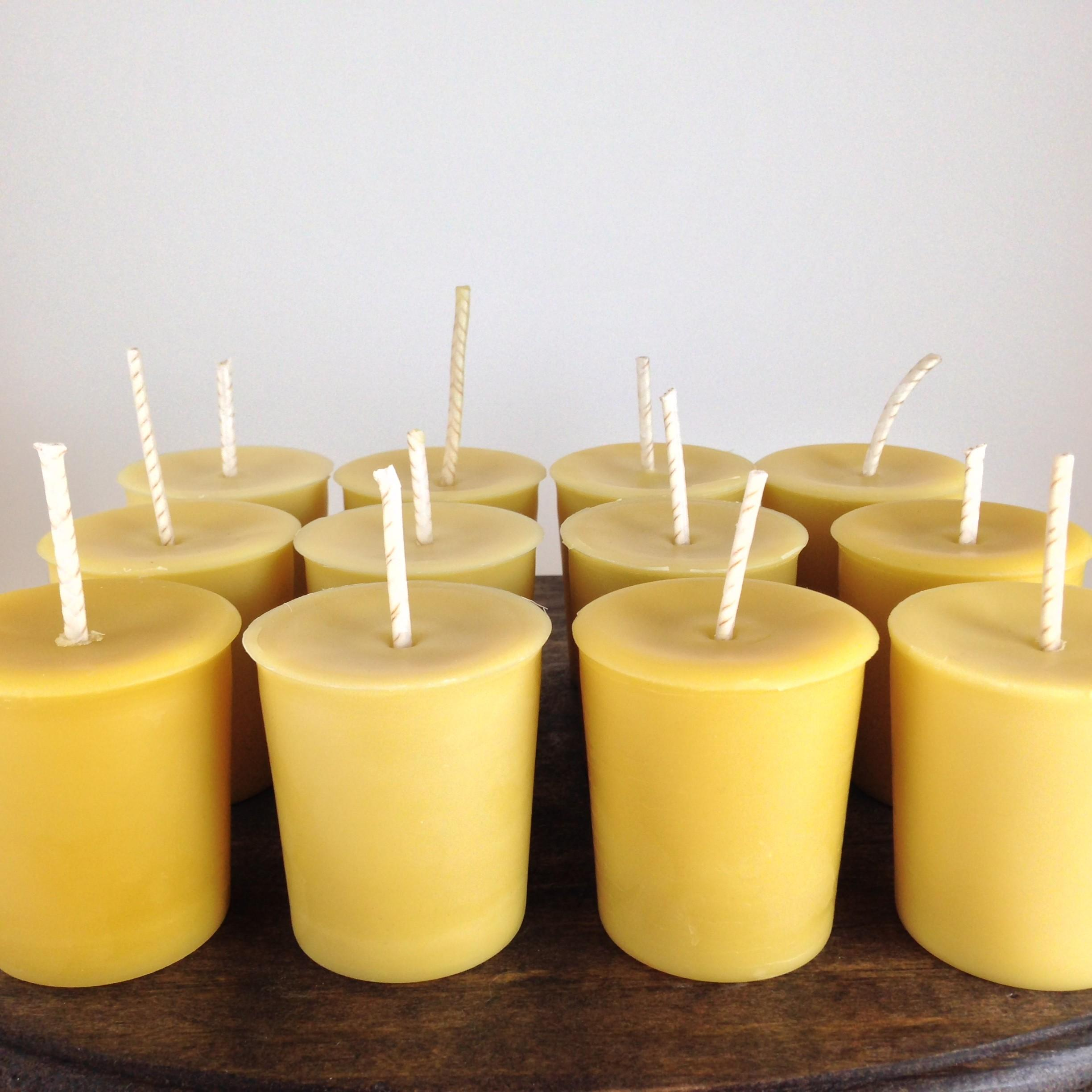 Set Handmade Natural Unscented Cotton Wick Beeswax