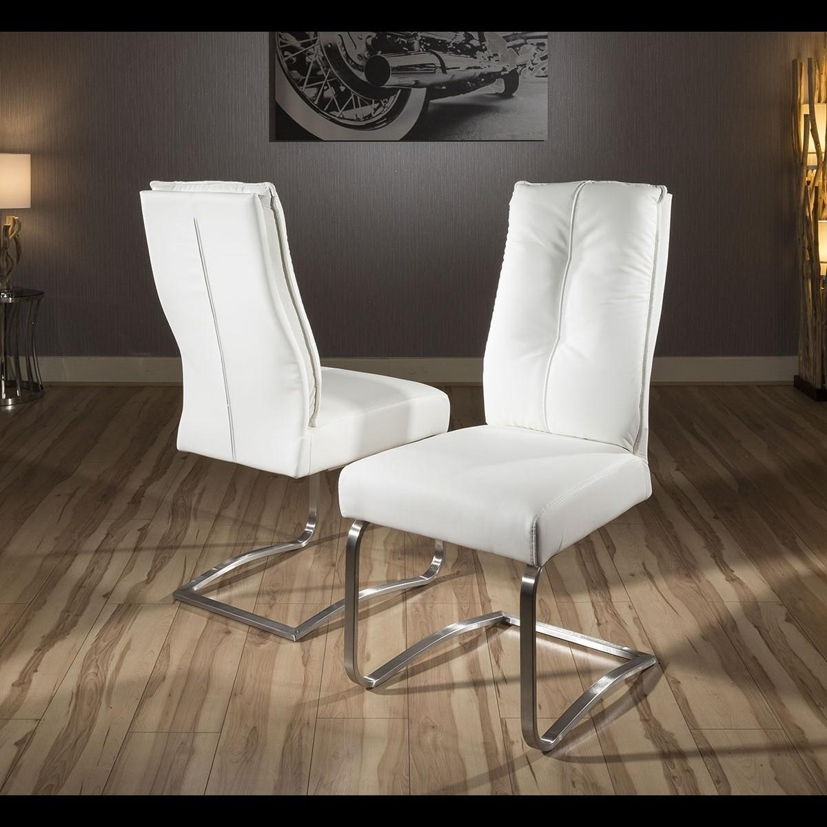 Set Large Padded Super Comfy Modern Dining Chairs