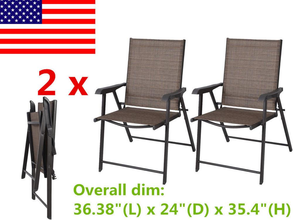 Set Outdoor Patio Folding Chair Furniture Camping