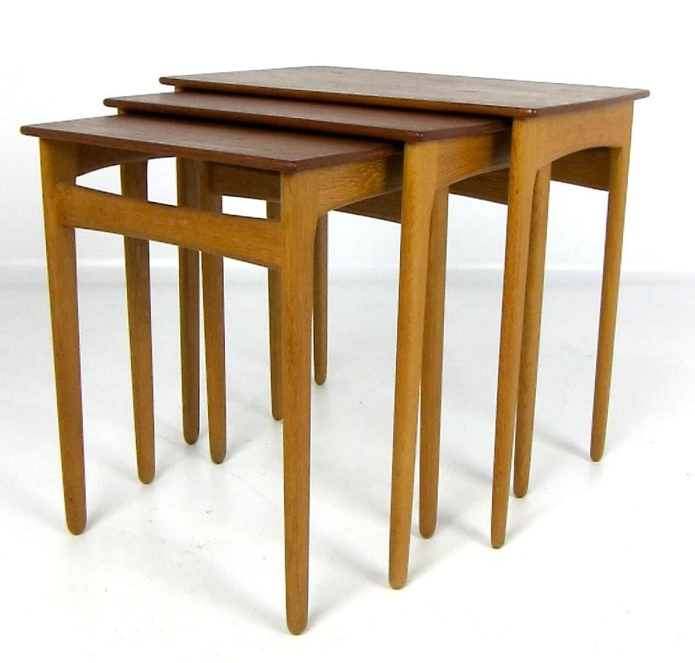 Set Teak Nesting Tables Svend Madsen Sale 1stdibs