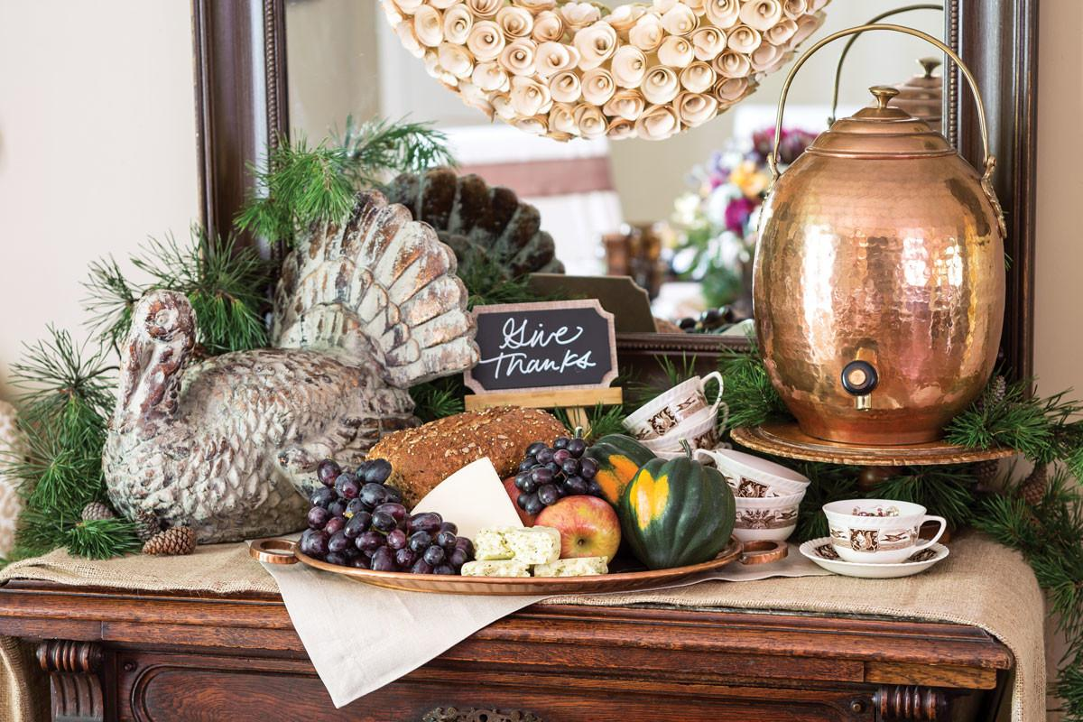 Set Thanksgiving Table Inspired Harvest