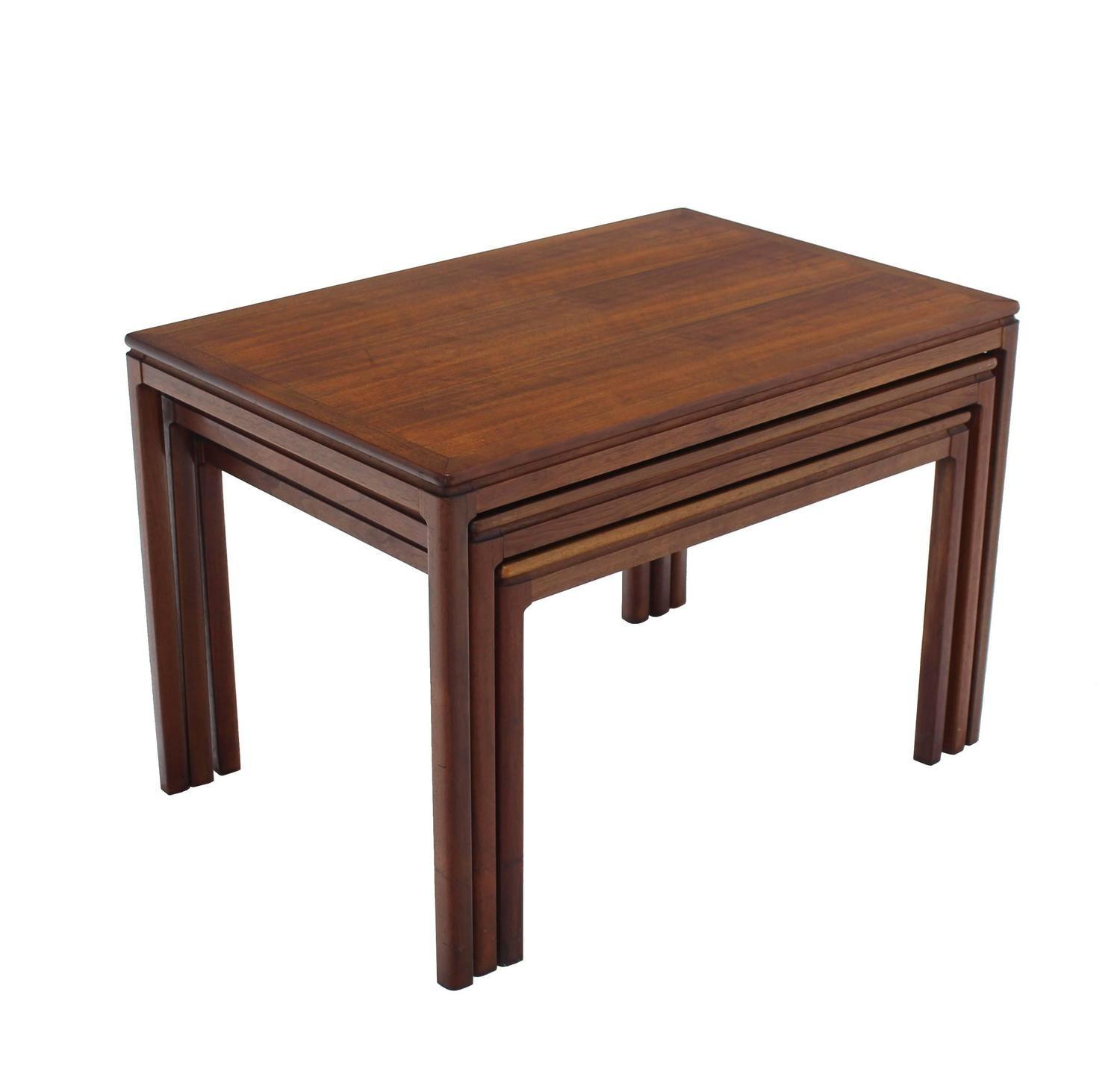 Set Three Teak Nesting Tables Dux Sale 1stdibs