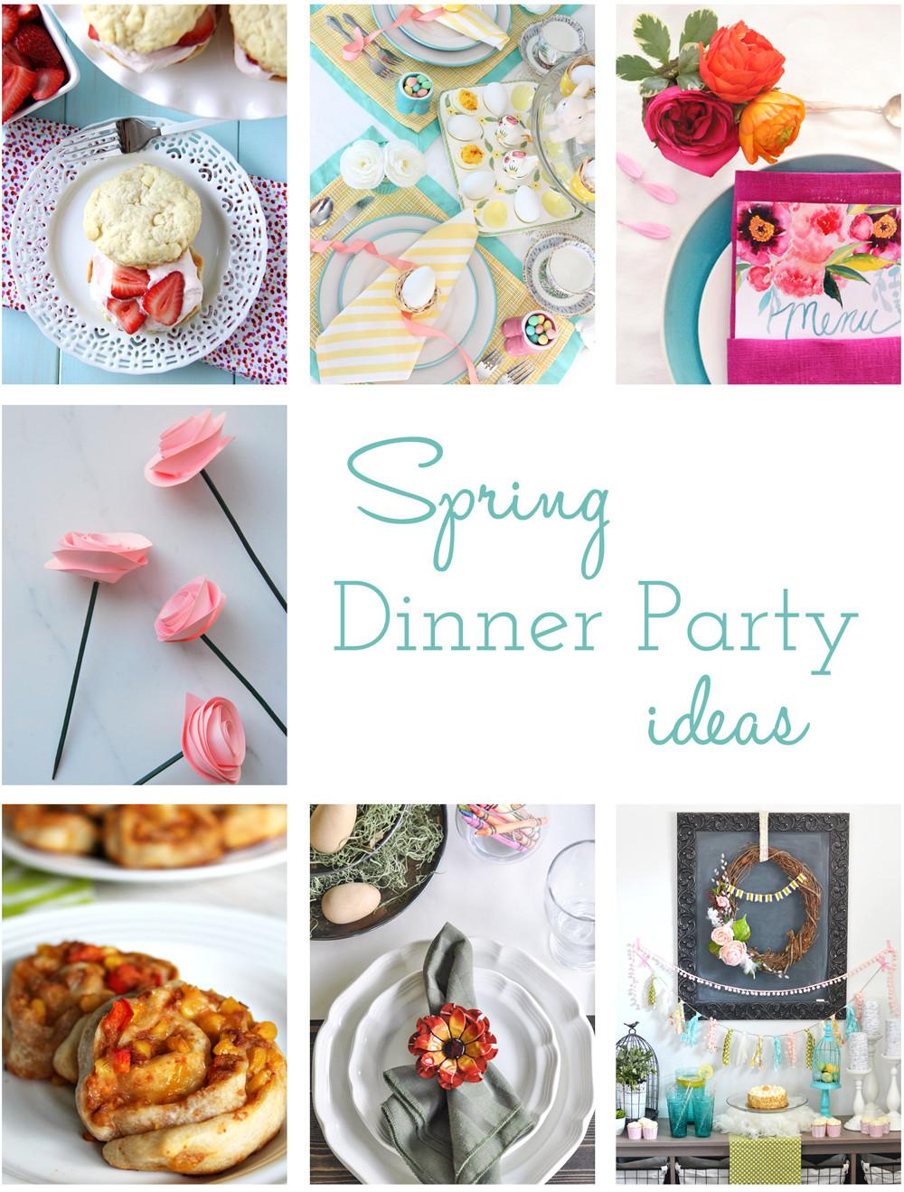Setting Kids Table Great Spring Dinner Party