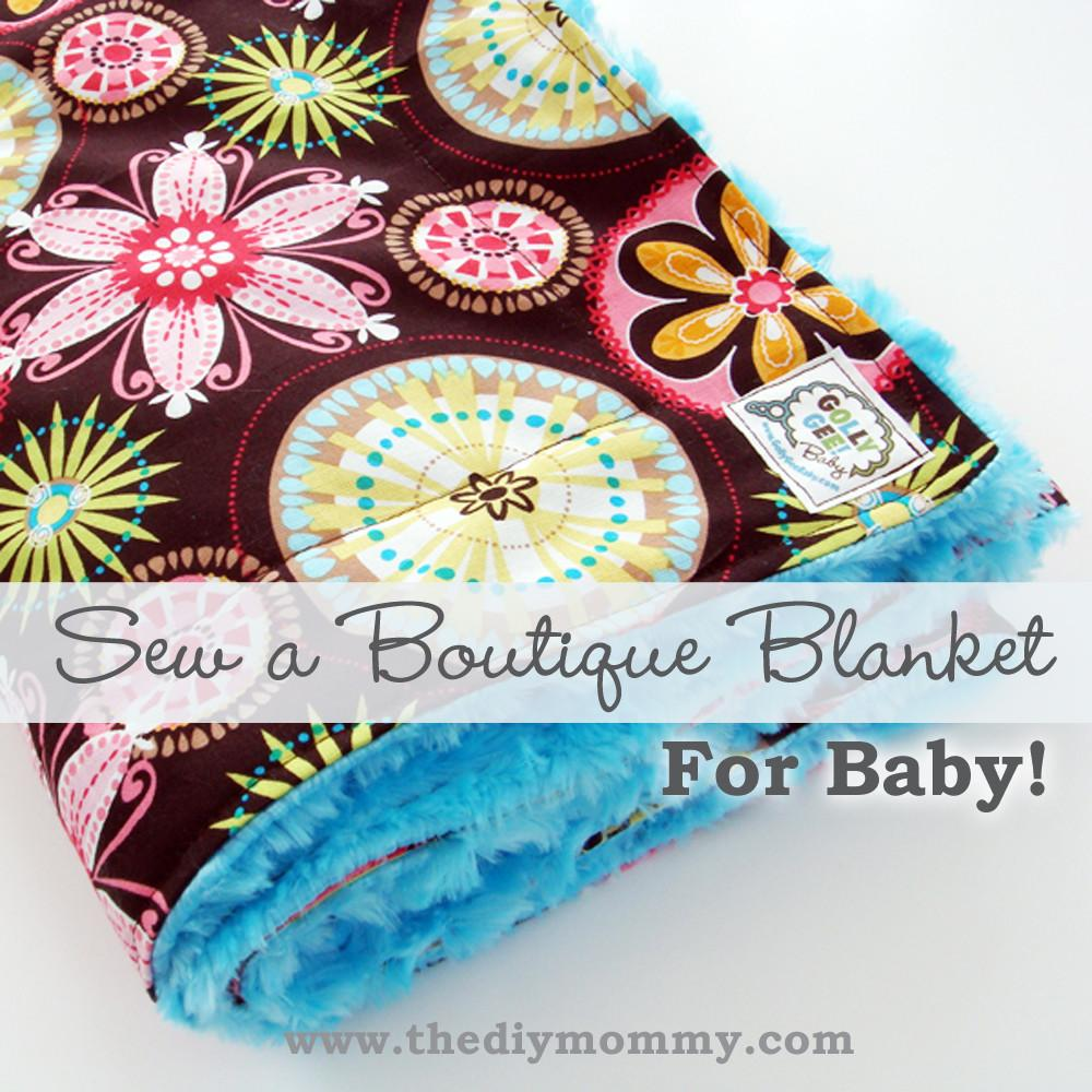 Sew Baby Boutique Blanket Cotton Minky