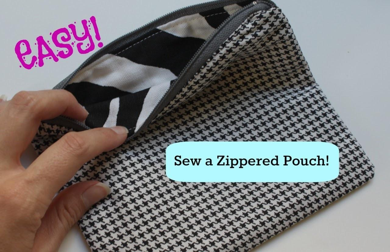 Sew Basic Zippered Pouch