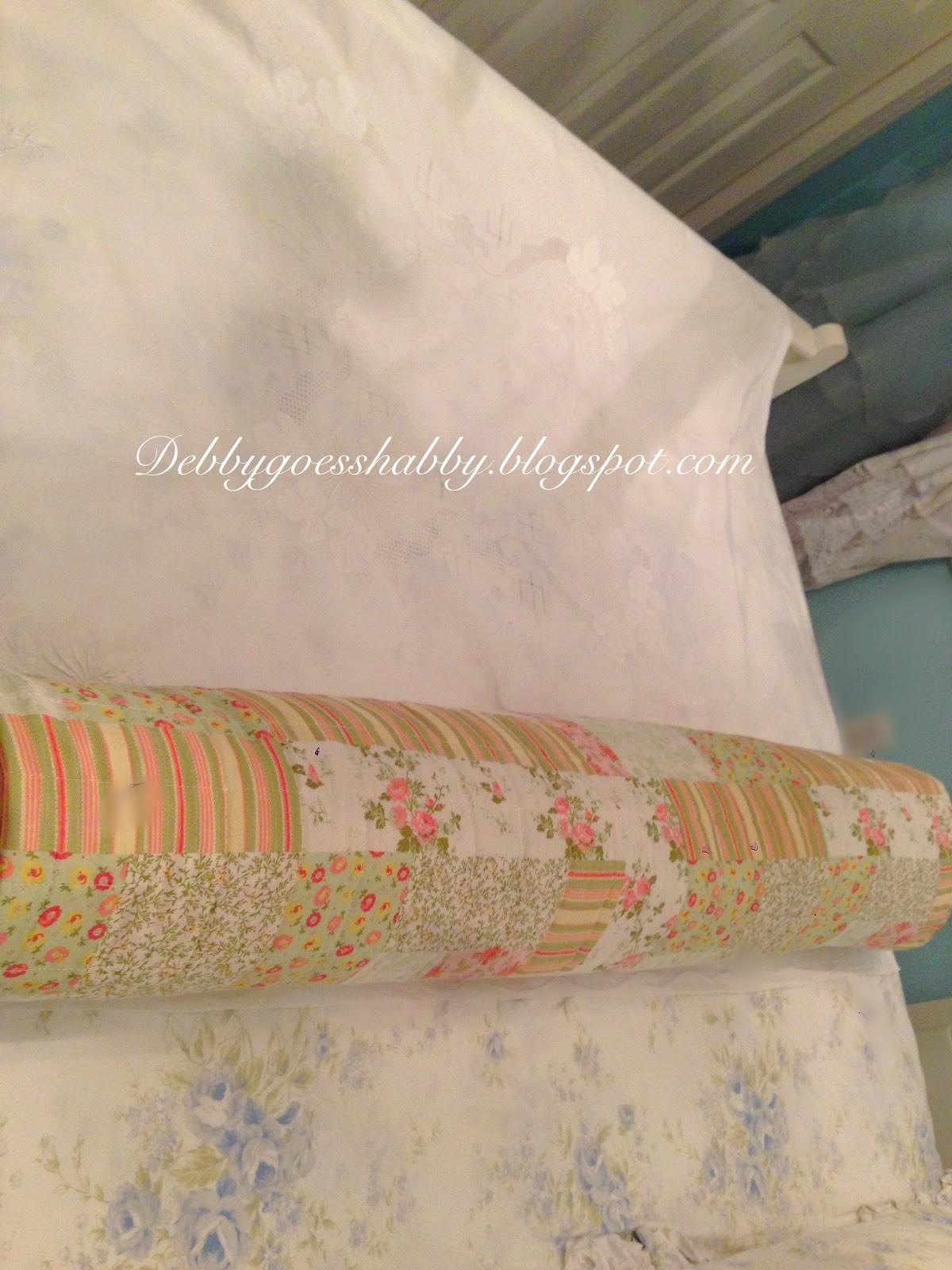 Sew Bolster Pillow Debby Goes Shabby