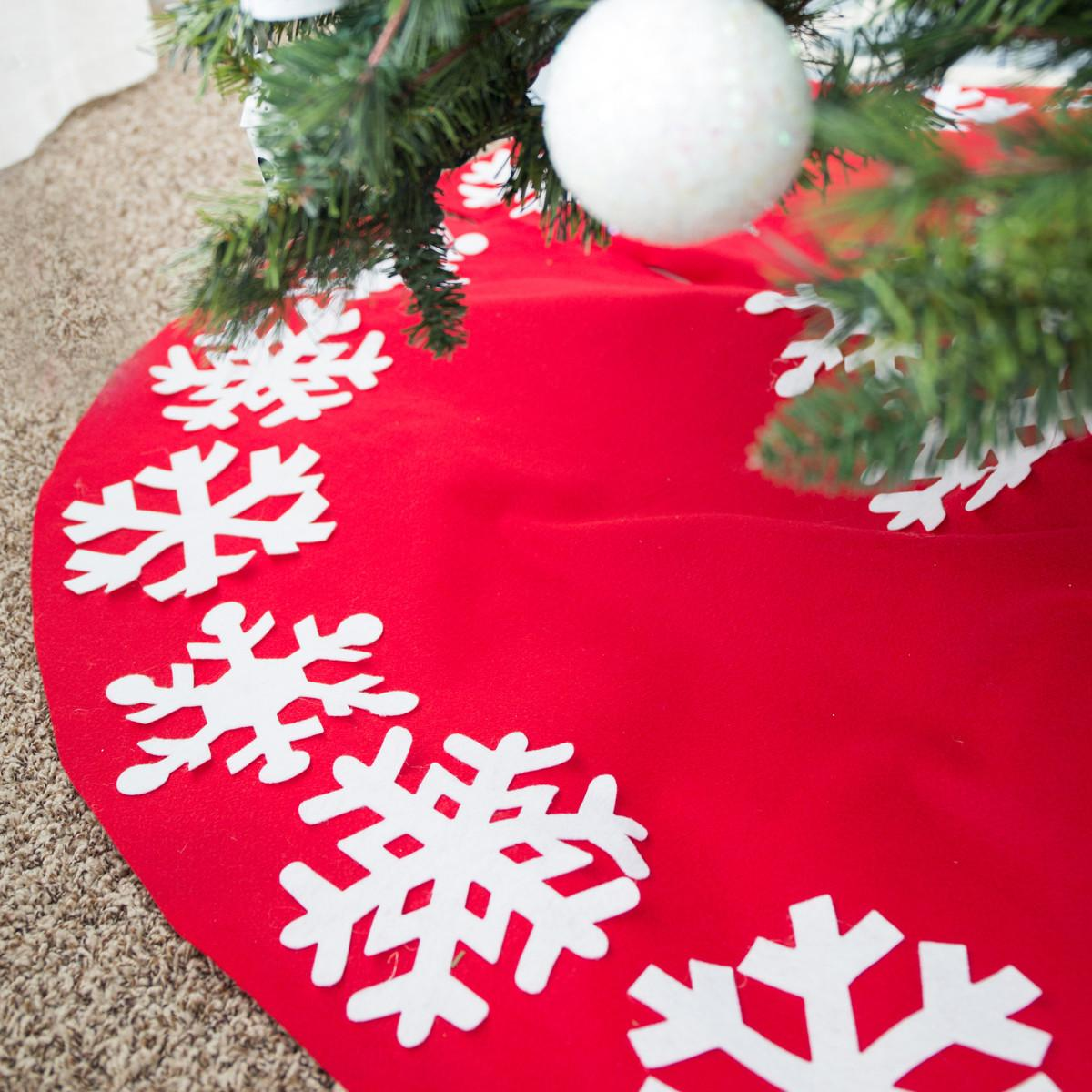 Sew Christmas Tree Skirt Tutorial Simple Simon